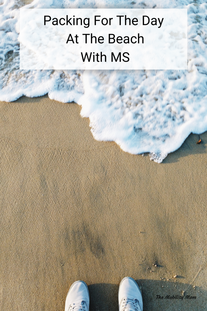 Packing For The Day At The Beach With Ms #TheMobilityMom #ThisIsMS #Travel #Tips