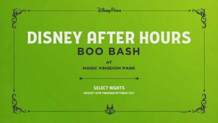 Disney After Hours Boo Bash Event